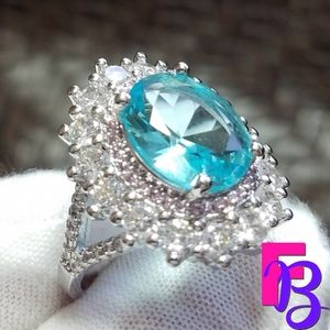 Size 7 Blue Topaz Cocktail Ring